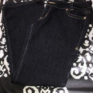 Dark blue jeans bootcut